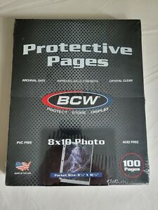 BCW Pro 3-Pocket Protective Photo Pages (100 Per Box)