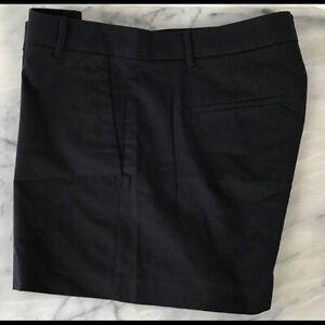 ANN TAYLOR Women's Black Shorts Size 8 Slit Pockets Cotton Stretch NWOT