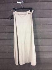 NWT Dressbarn 633 Beige Belted Long Skirt Women's 4