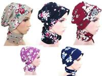 multi way Floral Turban hats underscarf cap hijab, stretchy material summer