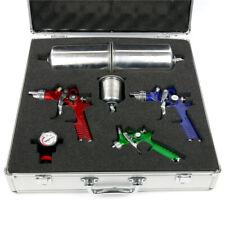 1/1.4/1.7MM 3 HVLP Air Spray Gun Kit Auto Paint Car Primer Basecoat Clearcoat
