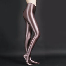 M-XL Unisex Sexy Satin Pantyhose Shiny Wet look Opaque High Gloss Spandex Tights