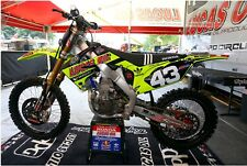 Lucas Oils Neon Yellow Honda Graphics Kit CRF 450 R 2009 - 12 / 250 2010 - 13