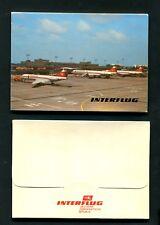 10 AK Interflug im Folder von 1988    (JK-35)