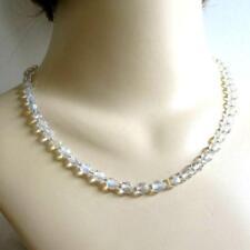 Single Strand Aurora Borealis Glass Crystal Bead Necklace Vintage  - VERY PRETTY