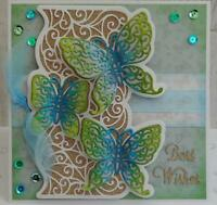Butterfly Lace Background Cutting Die DIY Template Making Stencil Embossing Card