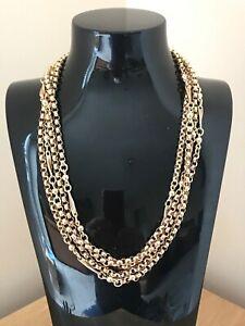 "Fabulous Antique 58"" Victorian 9ct Gold Muff Guard Chain & Velvet Box"