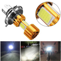 H4 18W LED 3 COB Motorcycle Headlight Bulb 2000LM 6000K Hi/Lo Beam Light 1PC