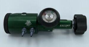TRG ESCORT Oxygen Conserving Regulator CGA 870 0-6 L/min Dual Lumen Cannula Only