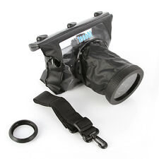 20M Waterproof Underwater Housing Dving Case Bag Lens 14cm for Canon Nikon DSLR