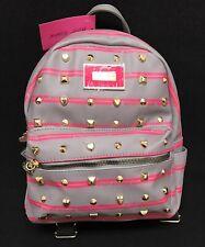 Betsey Johnson Plaid Heart Studded Backpack BRAND
