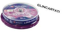 10 DVD +R VERBATIM  8X DL DUAL DOUBLE LAYER XboX 360 dvd + r per giochi console