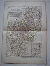 Karte von der Höhe Rhein par Bonne antik 1787 suabe strasbourg colmar Mainz