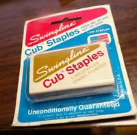 Vintage 1970'S Box of 1000 Swingline Cub Chisel Pointed Staples Sealed Package