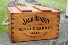 RUSTIC ANTIQUED VINTAGE WOODEN  JACK DANIEL BOXES CRATES TRUGS WITH LID HANDMADE