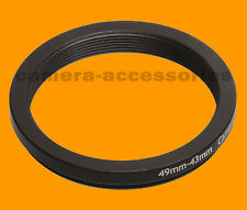 Retencion 49mm A 43mm 49-43 Stepping Step Down filtro anillo adaptador 49-43mm 49mm-43mm L-v