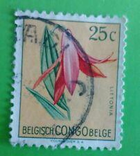 Congo  Belge, Belgisch 1952- Flowers. Used