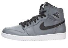 Air Jordan 1 Retro High Basketball Shoes Grey Black $140 New 332550-014 Mens 10