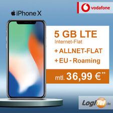 Apple iPhone X 64GB Handy mit Vodafone Vertrag 5GB Allnet Flat inkl. 36,99€mtl.