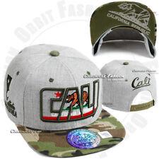 CALI Baseball Cap California Republic Bear Hat Snapback Adjustable Flat Men Hats