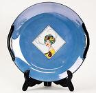 Antique Art Deco Lady Portrait Noritake Lustre Ware Cake Plate Handled RARE FIND