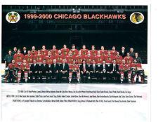 1999 CHICAGO BLACK HAWKS 8X10 TEAM PHOTO HOCKEY NHL HOF