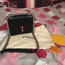 FENDI Roma  Kan I klein mini Tasche schwarz Leder neuw. LP:1290€
