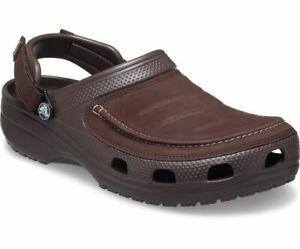 Crocs Mens Yukon Vista II Clog Lightweight Flexible Leather Comfortable Adjust