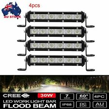 "4X 7"" inch FLOOD CREE LED Light Bar Super Slim Offroad Work Reverse Lamp"