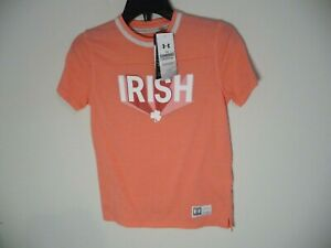 New Under Armour Notre Dame Fighting Irish youth YMD medium t-shirt shirt girls