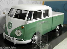 Motormax 1/24 Escala Vw Volkswagen tipo 2 T1 Pick-up Coche Modelo Diecast Crew Cab