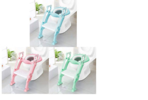 INFANT BABY TODDLER KID POTTY TRAINING TOILET SEAT SOFT CUSHION CHAIR LADDER