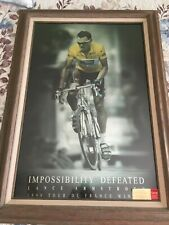 """Lance Armstrong Autograph Impossibility Defeated Oakley RARE Poster (24""""x36"""")"""