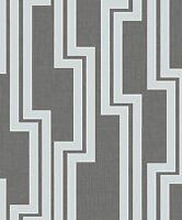 Arthouse Parallel Geometric Black & Silver Metallic Wallpaper 902001