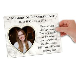 Large Memorial Plaque with Photo. Personalised. For Friend Family Garden Grave