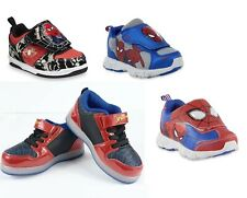 Marvel SPIDERMAN  Light-up Sneakers Athletic Shoes Toddler Boys Sz 9-13