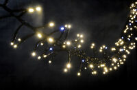 200 cluster twinkle effect LED fairy tree lights Christmas XMAS OUTDOOR TIMER
