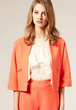 ASOS Anzug Blazer Rock Coral Orange Büro Business Office Kostüm Pencil UK6 34