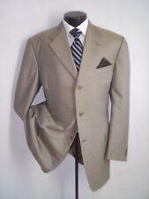 """Canali Beige Plaid 3 Buttons Wool Suit 44 L~Pants 38""""W x 32.5""""L"""