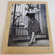 2 Photos Mode - Schiaparelli - Tirage argentique 1951 -