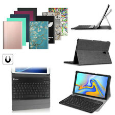 Leather Case + Bluetooth Keyboard For Galaxy Tab A /Tab S6 /S5e / S2/ S3/ Tab E
