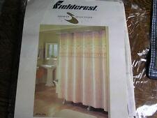 Fieldcrest Avalon Plum & Beige Mottled w/ Floral Garland Fabric Shower Curtain