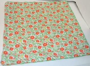 RALPH LAUREN Country French Orange Floral Stripe DECORATIVE PILLOW COVER NEW