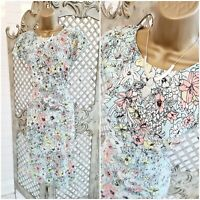 M & S COLLECTION 💋 UK 12  Pastel Floral Print Fit & Flare Dress ~Free Postage ~