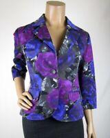 MICHAEL Michael Kors Floral Blazer Size M 3/4 Sleeve 2 Button Close Pockets