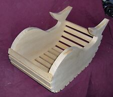 Wooden Whale Basket/ Planter by the Old Coot