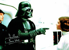 Dave PROWSE SIGNED Autograph Darth VADER Film Star Wars 16x12 Photo D AFTAL COA