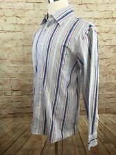 Kenneth Cole NEW YORK Dress Shirt Made in ITALY Long Sleeve Shirt XL EUC #B2