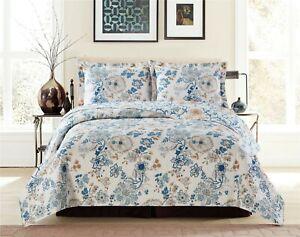 Oversize Layan Lightweight 3PC Atlantis Sun Shine Colors Printed Bed Quilt Set