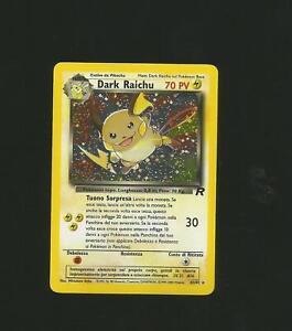 VARIE RARE CARTE POKEMON : Dark Raichu ITA 83/82 Rocket  holo